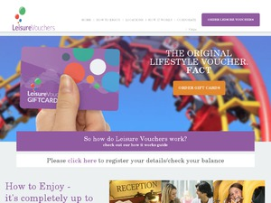 Leisure Vouchers website