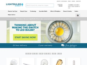 Lightbulbs Direct website