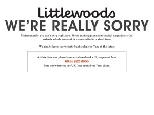 Littlewoods website