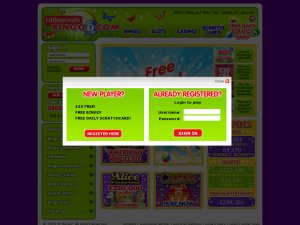Littlewoods Bingo website