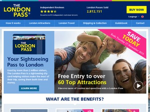 The London Pass website