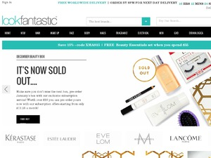 LookFantastic website
