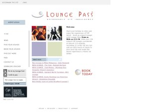 Lounge Pass website