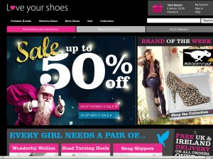 Love Your Shoes website