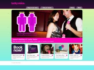 Lucky Voice website