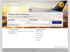 Lufthansa website