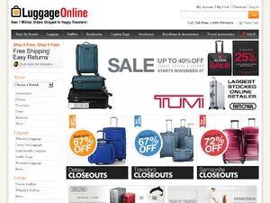 Luggage OnLine website