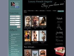 Luxury French Lingerie website