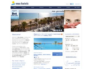 Mac Hotels website