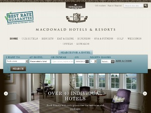 Macdonald Hotels website