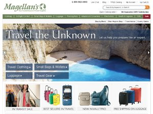 Magellans International Travel website