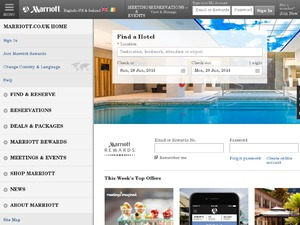 Marriott website