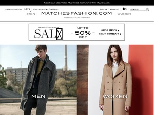 Matches Fashion website
