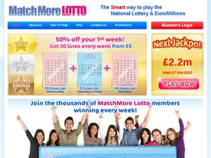 MatchMore Lotto website