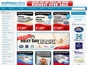 Mattress Online website