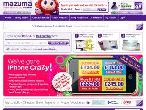 Mazuma Mobile website