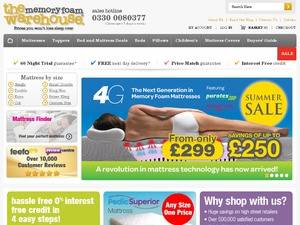 Memory Foam Warehouse website