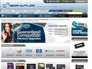 Memory Suppliers website