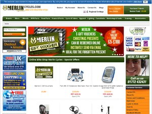 Merlin Cycles website