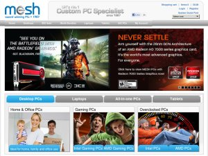 Mesh Computers website