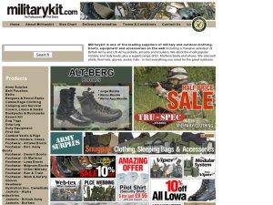 Military Kit website