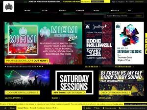 Ministry of Sound website