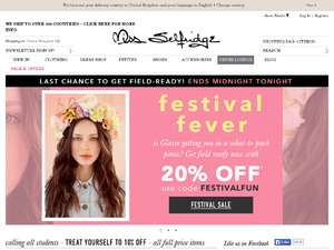 Miss Selfridge website