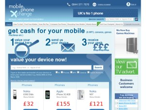 Mobile Phone Xchange website