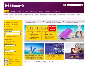 Monarch Holidays website