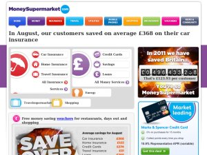 Money Supermarket website