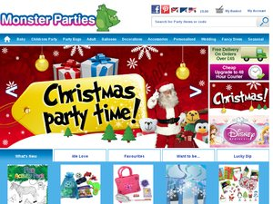 Monster Parties website