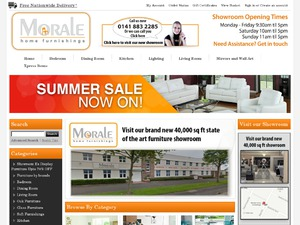 Morale Home Furnishings website