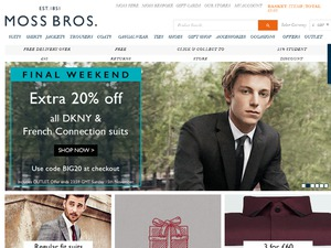 Moss Bros website