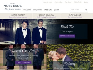 Moss Bros Hire website