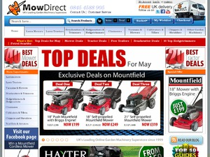 Mow Direct website
