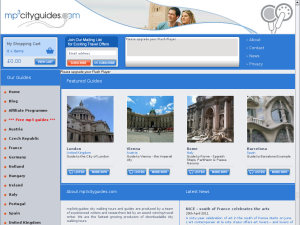 MP3 City Guides website