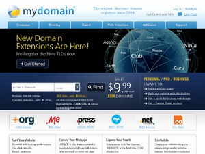 MyDomain website