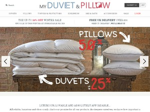 My Duvet and Pillow website