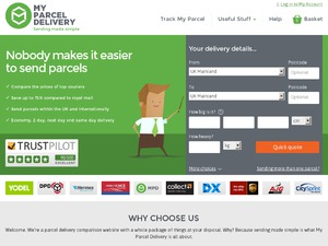 myParcelDelivery website