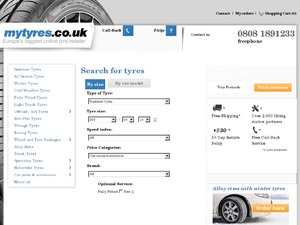 My Tyres website