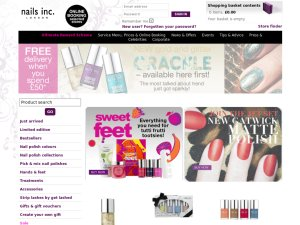 Nails Inc website