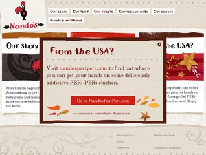Nandos website