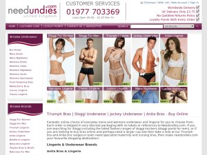 Needundies.com website