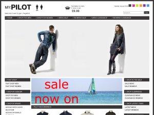 Pilot Clothing website