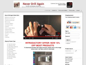 Never Drill Again website