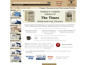 Newspapers Remembered website