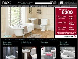 Next Bathrooms website