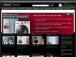 Next Domestic Appliances website