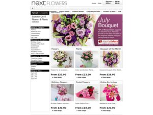 Next Flowers and Wine website