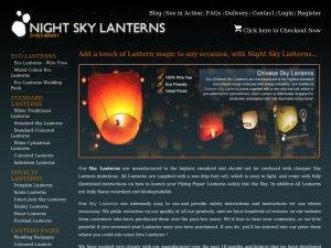Night Sky Lanterns website